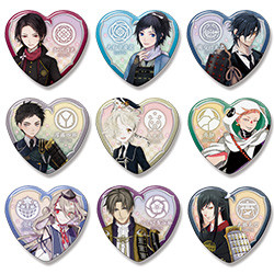 Touken Ranbu Heart Badges: Collection Two