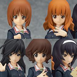 figma Angler Team Set EX-031 Girls und Panzer Figurine limited edition Japan