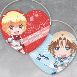 Cute High Earth Defense Club Love! Love! Heart-Shaped Clutch Bag (Yumoto Hakone / En Yufuin / Atsushi Kinugawa / Io Naruko / Ryu Zao)