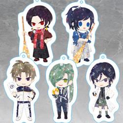 Touken Ranbu -Hanamaru- Soft Key Chain (Kashu Kiyomitsu / Yamatonokami Yasusada / Heshikiri Hasebe / Nikkari Aoe / Yagen Toshiro)